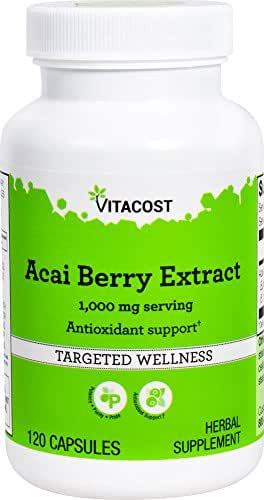 Vitacost Acai Berry Extract -- 1000 mg per serving- 120 Capsules