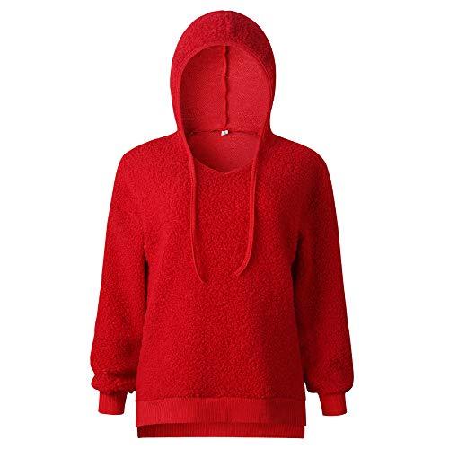 Capuche Fte Sport Blouse Femme Rouge Sweat Automne Casual Manches Chic Top Mode Haut Cordon Homme Shirt Hiver Vtements Longues Pull Filles 5qwwCZ6