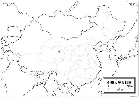 Amazon | 中国(中華人民共和国)の白地図 A1サイズ 2枚セット | 地図 ...