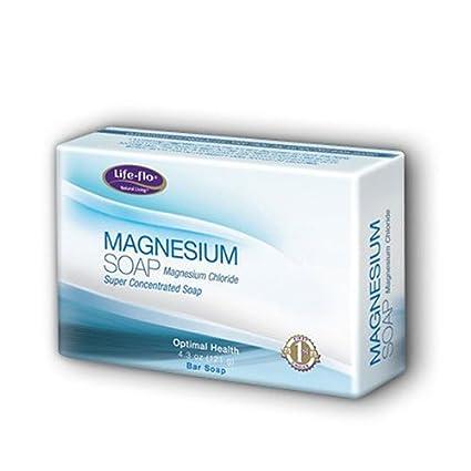 Life-Flo - jabón de barra de magnesio - 4,3 oz.