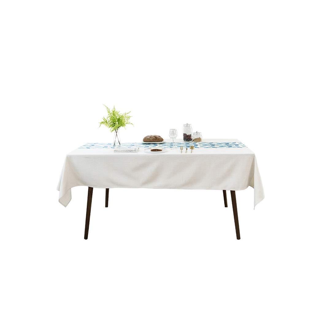 Gquan テーブルクロス立体刺繍幾何学綿とリネン30°水温クリーニング低温アイロンサイズ3オプションキッチンレストランパーティーピクニック屋内屋外用 (サイズ さいず : 140*220cm) 140*220cm  B07S7VL47R