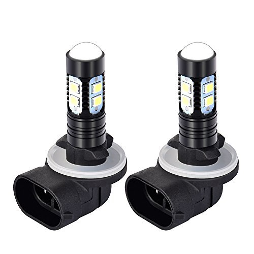 (ACUMSTE 50W Super Bright 881 LED Fog Light Bulbs 881 DRL Lights Daytime Running Lights, 6000K Xenon White)