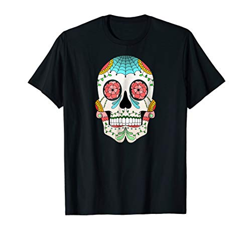 Halloween Sugar Skull Day of the Dead Costume Idea T-Shirt