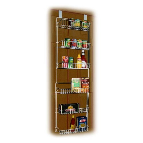 Storage Dynamics 5-Foot Vinyl Covered Steel Over door Storage Basket Rack (Vinyl Storage Basket)