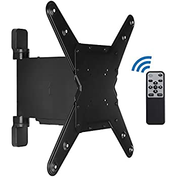 mount it motorized tv wall mount bracket with full motion swing out and swivel. Black Bedroom Furniture Sets. Home Design Ideas