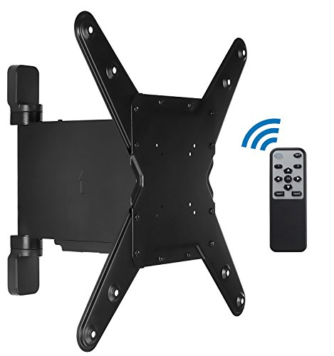 Mount-It! Motorized TV Wall Mount Bracket with Full Motion Swing Out and Swivel Articulating Arm for 32-55
