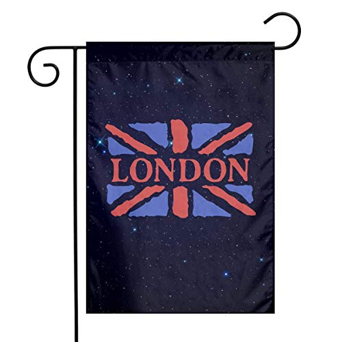 DJIEZI London Garden Flag Weather Resistant Banner - Only One Side - 12