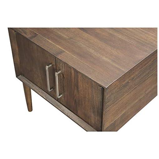 Bedroom Signature Design by Ashley – Kisper Mid Century Modern Square End Table, Dark Brown 23.88″D x 22.13″W x 22.13″H modern bedroom furniture