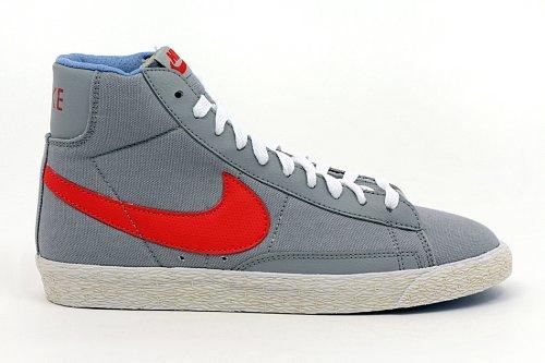 Nike - Nike Blazer Mid Vintage TXT (GS) Zapatos Deportivos Mujer Gris Alto 574270 G