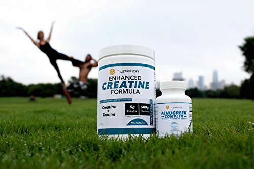 Creatine Monohydrate - Best Unflavored Micronized Powder Supplement - Enhanced Paleo Formula with Fenugreek - Improve Brain and Body Health (60 Day Supply) - Hyperion Strength - MONEY BACK GUARANTEE