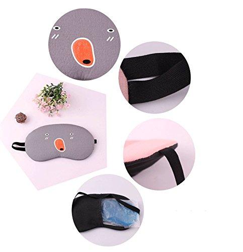 Cupcinu Máscara de ojo Máscara dormir bolsa de hielo Gafas de sombreado Máscara de sueño de dibujos animados Saco de dormir portátil Puede ser protección ...
