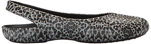 crocsOlivia II Leopard Print Flat W Lprd - Bailarinas Mujer Multicolore (Leopard)