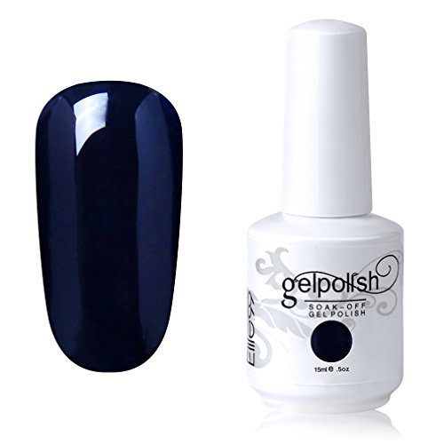 Elite99 Gel Nail Polish Soak Off UV LED Gel Lacquer Nail Art Manicure Varnish 15ml Dark Blue - Gel Single