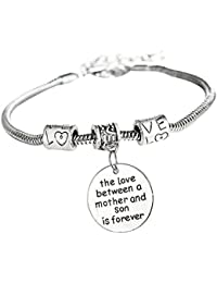 The Love Between Mother And Son Is Forever Bangle Bracelet for Mother's Day Gift Jewelry