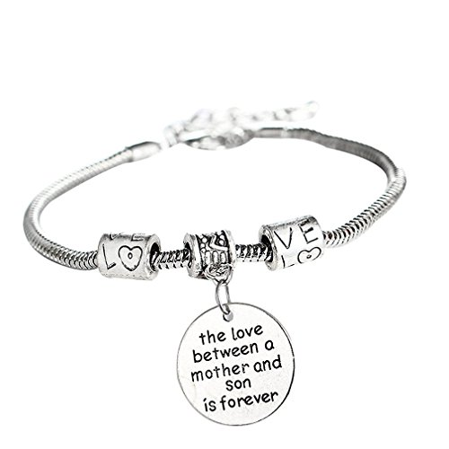 Polytree The Love Between Mother And Son Is Forever Bangle Bracelet for Mother's Day Gift Jewelry