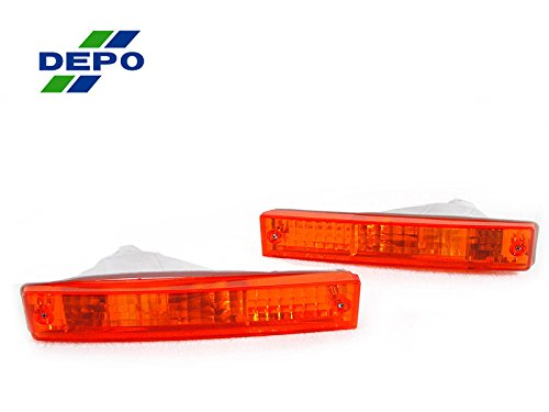 DEPO JDM Style Amber Bumper Signal Lights FIT FOR 1990-1991 Honda Civic SI/LX/EX/DX