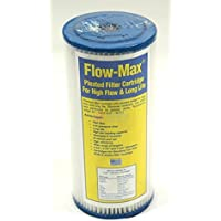 Flow-Max FM-BB-10-1 Full Flow/BB 10 inch 4 1/2 inch 1 Synthetic Filter Media Pleated Sediment Cartridge by Max-Flow