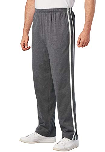 KingSize Men's Big & Tall Lightweight Sweat Pants with Side Stripes, -