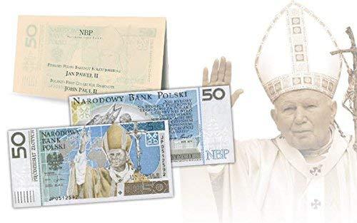 IMPACTO COLECCIONABLES Collezione Banconote Polonia - 50 Zlotis del 2006, l'Unico Dedicato a Giovanni Paolo II l'Unico Dedicato a Giovanni Paolo II