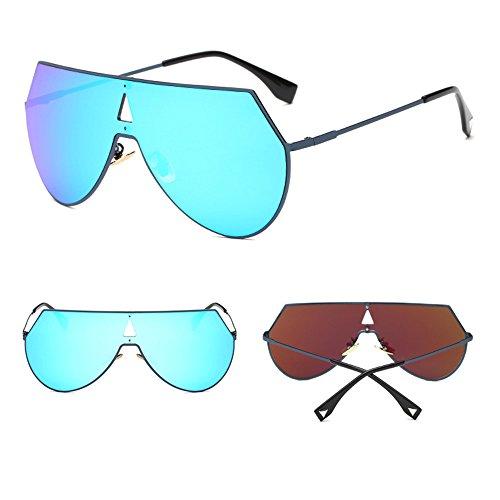 De Blue La Grandes Gafas Gray Sol De Sol Gafas Los De Polarizadas Gafas Hombres De Las Estrella Sol Ultravioleta Anti De Retros De 11qBWvI