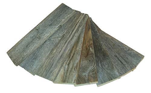 Rustic Wood Plank Bundle 100% Reclaimed Wood Pack of 8 (12 Inch Planks)