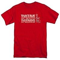 Trevco Men's Dum Short Sleeve T-Shirt, Red, Medium