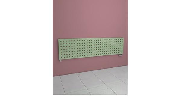Europe - Radiador Decorativo - incluye Kit de grifo - diseño moderno - 477 x 1206 mm - Verde Blanco - 607 vatios - Calefacción Central de Agua - Pose Pared ...