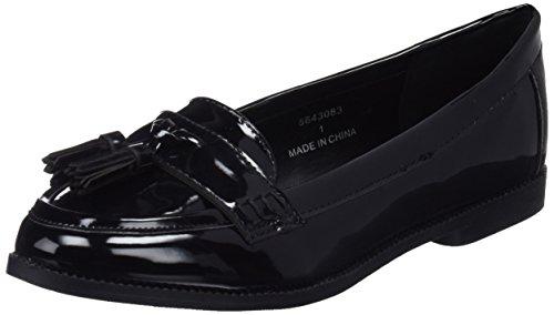 New Look WoMen Wide Fit-Jenson Loafers Black (Black 1)