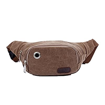 lovely Genda 2Archer Men's Canvas Runners Fanny Pack Travel Sports Waist Pack