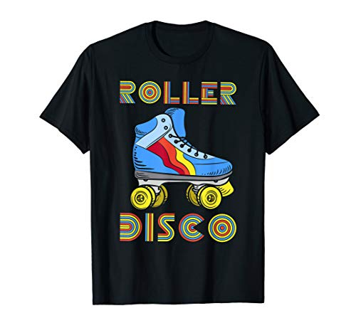 Vintage Retro Roller Disco T-Shirt 80s 70s Skating Party Tee