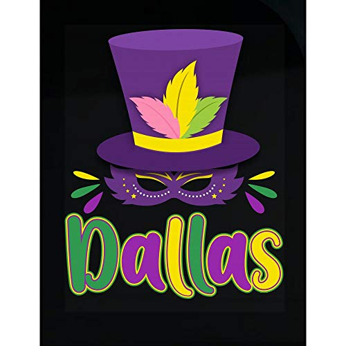 Amazing Fan Store Mardi Gras Theme Personalized Name Gift for Dallas - Transparent Sticker]()
