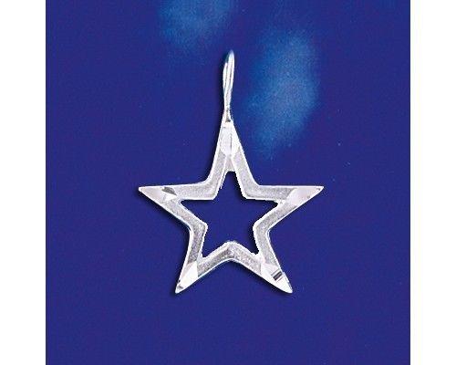 Sterling Silver Dallas Texas Cowboys Star Pendant Diamond Cut Charm Solid 925 Silver - Silver Jewelry Accessories Key Chain Bracelet Necklace Pendants