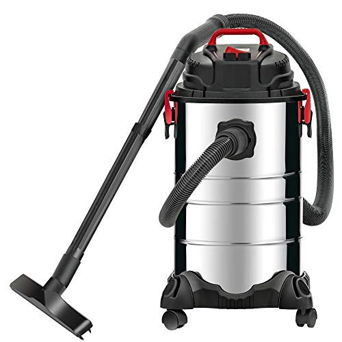 KUPPET Wet/Dry Vacuum, 4 in 1 VacuumCleaner,8 Gallon, 3.5 Horsepower, Stainless Steel Tank