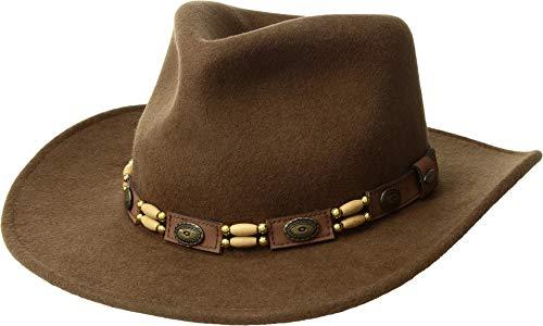 SCALA Men's Tracker Wool Outback Hat Pecan Large