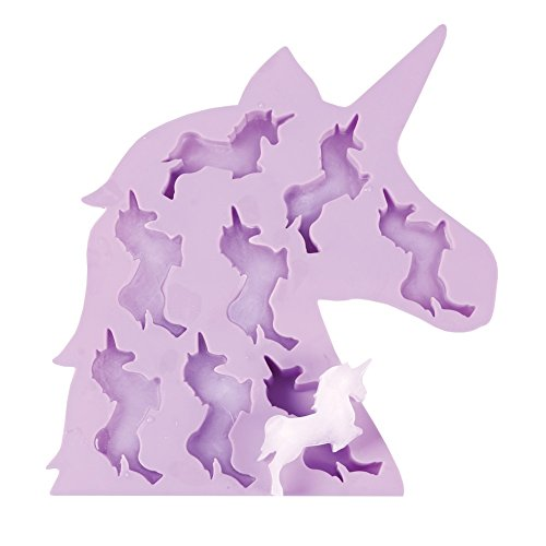 (WHAT ON EARTH - Unicorn Ice Cube Tray - Soft Silicone - 9.25