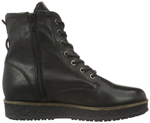 Bianco Flatform Laced Up Boot Son16, Zapatillas de Estar por Casa para Mujer Negro - Schwarz (Black/10)