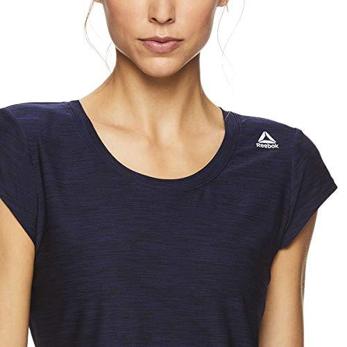 Reebok Women's Legend Performance Short Sleeve T-Shirt with Polyspan Fabric - Aged Blue Heather, X-Small by Reebok (Image #4)