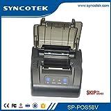 SYNCOTEK POS58V Bluetooth Receipt Printer for Skip