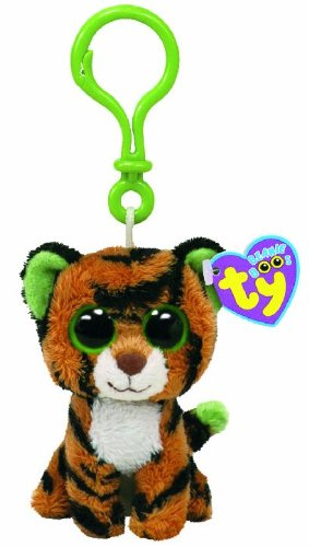 Ty Beanie Boos - Stripes-Clip the Tiger