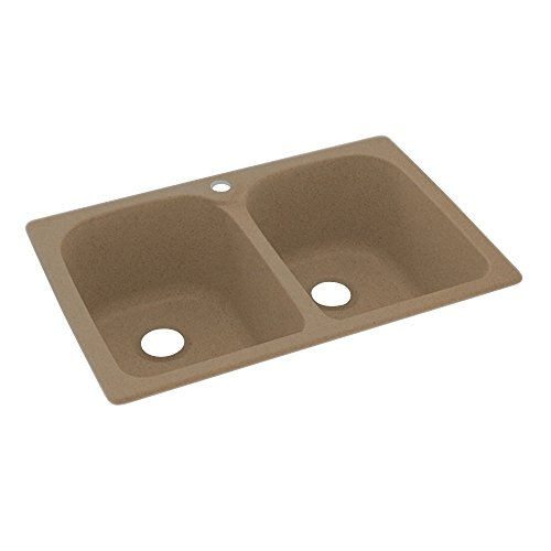 Swanstone KS02233LB.091 Solid Surface 1-Hole Drop in Double-