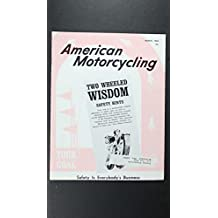 AMERICAN MOTORCYCLING 1966 MARCH SAFTEY HINTS TWO WHEELED WISDOM