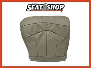 2000 Ford F150 Lariat Driver bottom Leather Seat Cover 60/40 Bench Grey P3