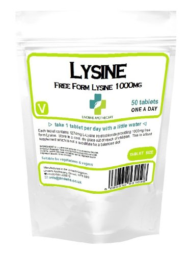 Lysin 1000 mg ein-a-day 50 Tabletten (L-Lysin)