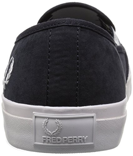 Fred Perry Men's Turner Slip on Brushed Cotton Fashion Sneaker, Navy/White, 11 UK/12 M US