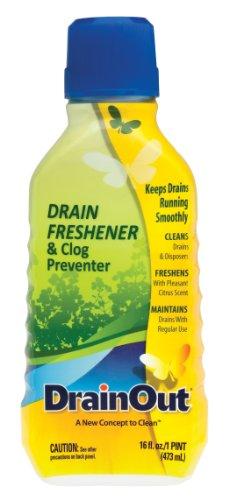 (DrainOUT Drain Freshener & Clog Preventer, 16 Fl. Oz. Bottle)