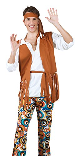 60s Group Costumes (1960s Mens Adult Hippy Fancy Dress Costume 70s Sixties Hippie Costume by BOLAND BV)