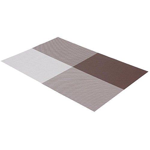 PVC Dining Table Mat Disc Pads Bowl Disc Pad Coasters Waterproof Anti-slip Table Cloth Pad Heat insulation Dining Tablewares Park Rectangular Leg Table