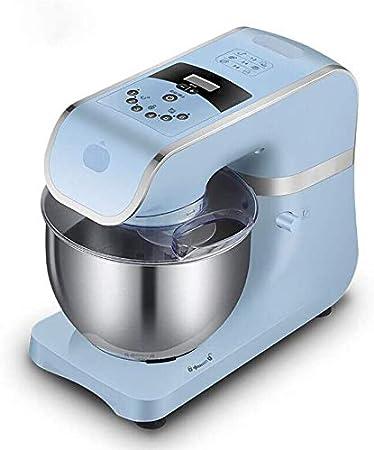 Amasadora de pan Batidora de pie, de acero inoxidable del recipiente de mezcla, 6 velocidad y el tiempo de visualización 1000 W, 4, 2 l de la torta del mezclador con el