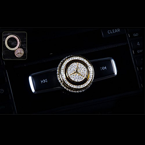 YIKA Handmade crystal audio knobs for Mercedes-Benz (gold)