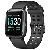 LETSCOM Fitness Tracker with Heart Rate Monitor, Activity Tracker, Step Counter, Sleep Monitor, Calorie Counter, 1.3'' Touch Screen Smart Watch, 5ATM Waterproof Pedometer Watch for Kids Women and Men